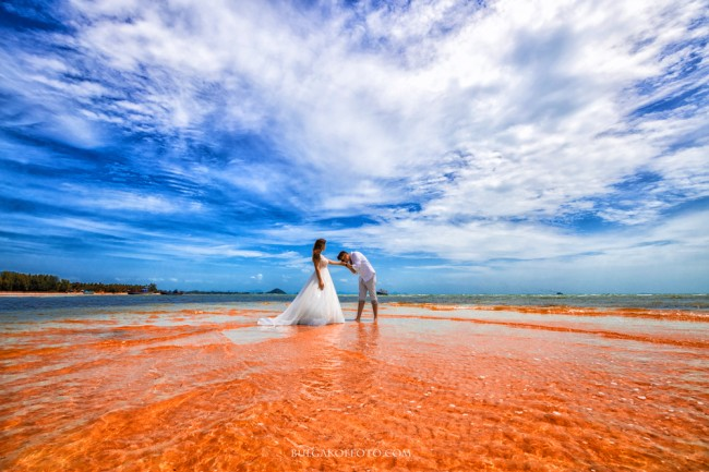 Red Beach Wedding photography